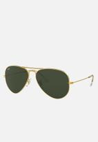 Ray-Ban - Aviator sunglasses - gold & grey green