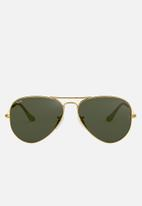 Ray-Ban - Ray-ban 0rb3025 58 sunglasses  - gold & green