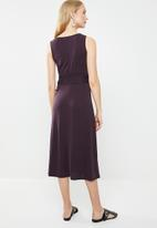 MANGO - Bow modal dress - purple