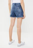 GUESS - High waisted short - blue