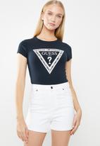 GUESS - Short sleeve motif tri tee - navy