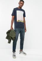 Jack & Jones - Mega short sleeve T-shirt- navy