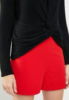 New Look - Ribbed twist top - black