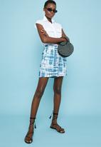 Superbalist - Tie-dye soft paperbag shorts - blue