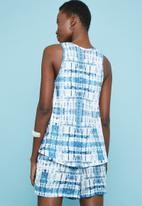 Superbalist - Tie-dye printed relaxed vest - blue