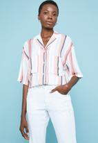 Superbalist - Pastel stripe printed resort shirt - multi