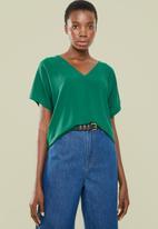 Superbalist - V-neck basic blouse - green