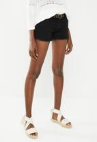 ONLY - Dylan pushup shorts - black