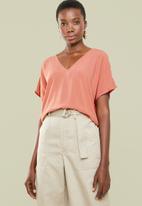 Superbalist - V-neck basic blouse - coral
