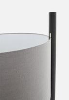 Emerging Creatives - Gravity standing lamp - black with grey shade