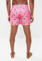 Happy Socks - Parrot swim short - pink