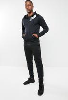 New Balance  - Tenacity full zip fleece top - black