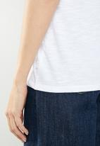 Levi's® - Perfect ringer tee - white & blue