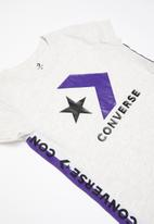 Converse - Converse girls 2 tone taping track dress - grey