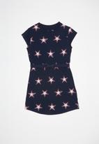 Converse - Converse girls aop wordmark dress - navy