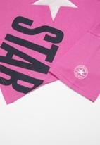 Converse - Converse girls all star cross body box T-shirt - purple
