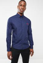 Pringle of Scotland - Mcneill long sleeve styled shirt - navy