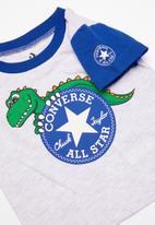 Converse - Cnvb conasaur short set - blue & grey