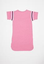 Converse - Yarn dye jersey dress - pink