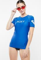 Roxy - Basic roxy surf rashvest - blue