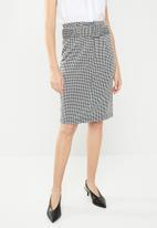 Vero Moda - Forever pencil skirt - black &  white