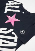 Converse - Converse girls all star cross body box T-shirt - navy