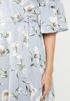 Revenge - Floral wrap dress - multi