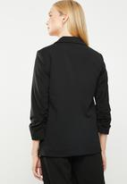 ONLY - Carlina 3/4 sleeve blazer - black