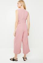 Revenge - Sleeveless side detail jumpsuit - pink