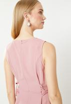 Revenge - Sleeveless side detail jumpsuit - pink