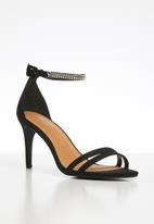 Cotton On - Shari double strap stiletto - black