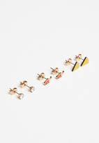 POP CANDY - 3 Sets multi pack earrings - gold