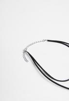 Jewels and Lace - Plain necklace - black
