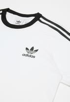 adidas Originals - 3 stripes tee - white & black