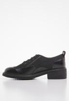 G-Star RAW - Tacoma leather & denim shoe - black