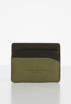 G-Star RAW - Zallik grizzer leather cc holder - brown & green
