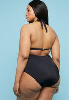 Superbalist - Halter bikini top - black