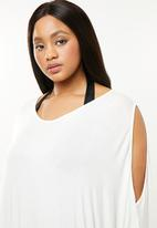 Superbalist - Cold shoulder cover up (plus) - white