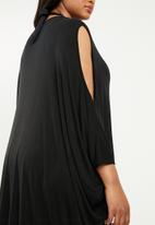 Superbalist - Cold shoulder cover up (plus) - black