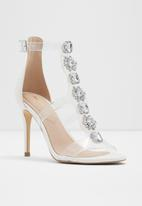 ALDO - Vinyl caged stiletto heel - white