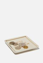 Typo - Small trinket tray - beige