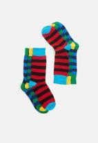 Superbalist - 3-Pack striped socks - multi