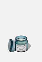 Typo - Mini glass candle - blue
