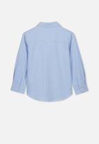 Cotton On - Prep long sleeve shirt - blue
