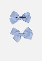 Cotton On - Big bow clips - blue