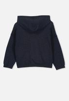 Cotton On - Suvi crop hoodie - black & blue