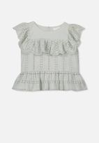 Cotton On - Kiko frill top - grey