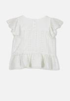 Cotton On - Kiko frill top - white