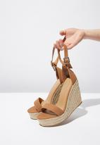 Cotton On - Faux suede espadrille wedge - tan