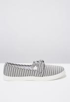 Cotton On - Bow slip on - grey & white